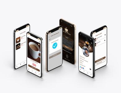 Coffee app design concept