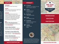 Save Texas History Brochure
