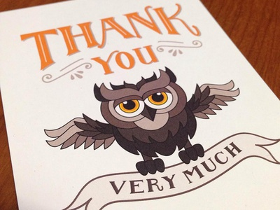 owl thank you note