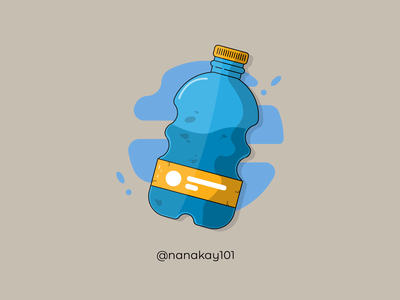 Bottled Water waterbottle bottle water ios android graphicdesign web vector illustrator illustration flat design creative amazing