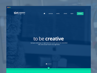 one page psd template [on sale]