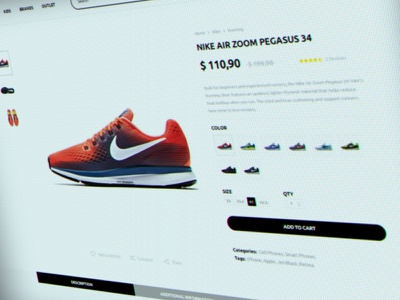 web interface draft #42 web themeforest template e-commerce design