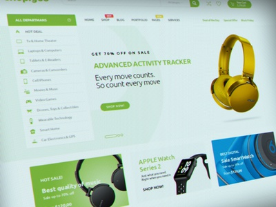 web interface draft #45 design e-commerce template themeforest web