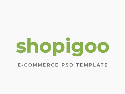 shopigoo psd design web ui template e-commerce themeforest