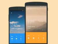 Material design weather app
