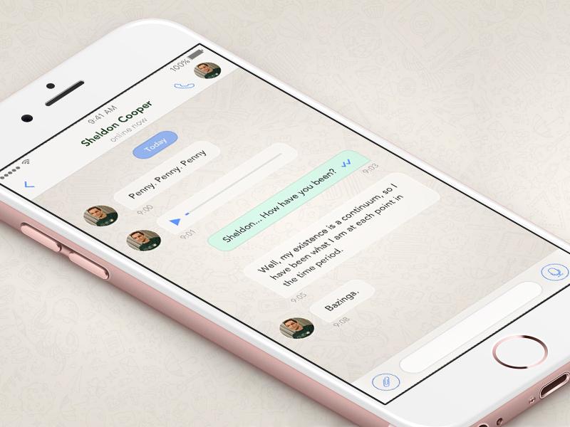 Whatsapp redesign redesign whatsapp messenger chat ui ios iphone app message messaging