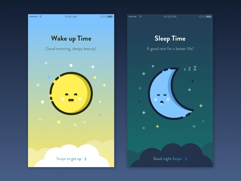Friendly Alarm  dailyui mbe palette flat trendy reminder time alarm illustration ios app cute