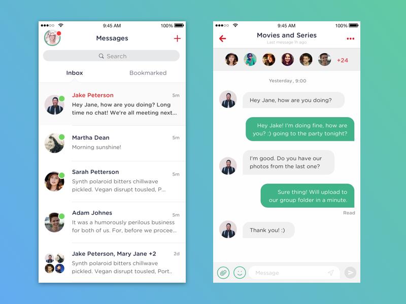 Messaging app communication inbox message messages ios conversation room group social chat messaging app