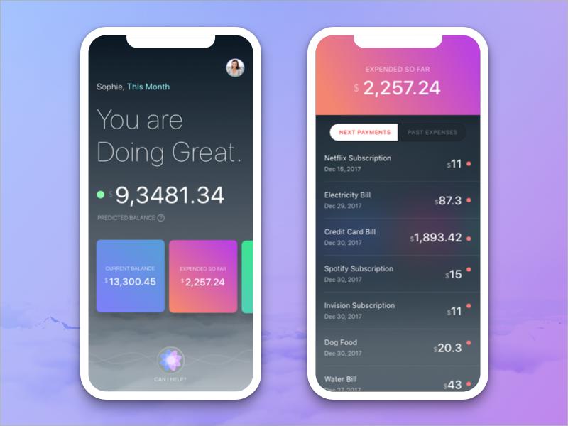 Financial AI App by Julia Mattos | Dribbble | Dribbble