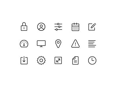 Custom Icons web product application app platform custom icons ux ui