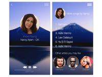iOS 7 Music App - Concept Design