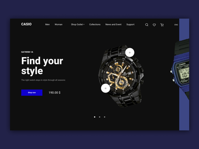 Casio Concept Store webdesign uiux watch ecommerce design web ux ui