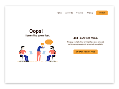 Daily UI - Error 404 page ui design web figma ux ux design dailyui