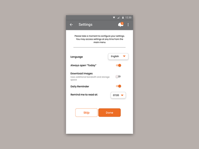 DailyUI - Settings page ui ux app design ux design figma dailyui