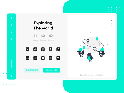 Exploring the world uiux mobile webdesign desktop web motion graphics graphic design handsout branding logo app typography vector animation illustration design figma xd adobe ux ui