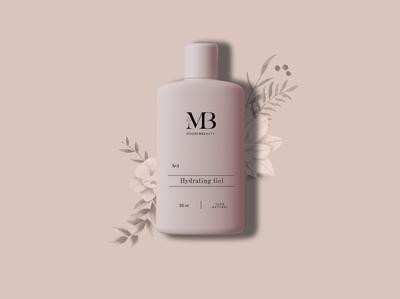Moore Beauty Product Mockup Design bottle mockup illustration logodesign typogaphy beauty product floral pattern floral art minimal design minimal mockup skincare
