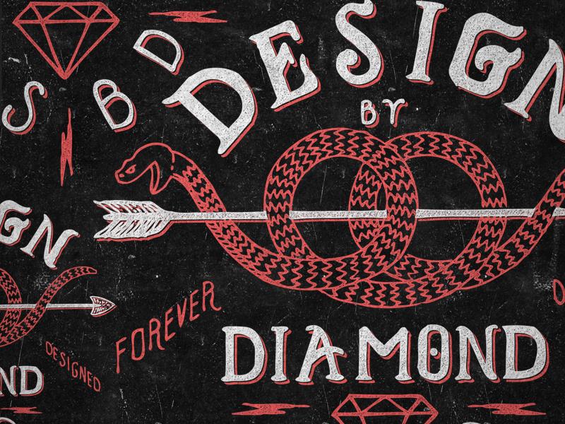 Watch Your Heals arrow diamond designbydiamond lettering typography logo design texture snake dsbd lightning bolt teeshirt