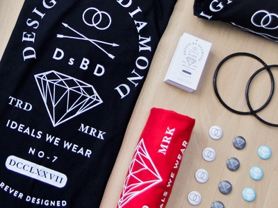 Ideals We Wear brand logo design designbydiamond branding hangtags shirtdesign teeshirt arrows diamond buttons dsbd trademark
