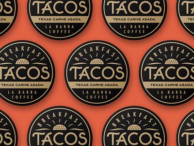 La Barba Tacos logo illustration branding tacos badge