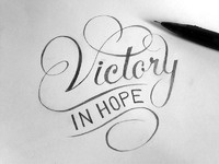 Victory in hope dribbble detail