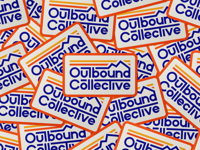 Outbound Collective retro sticker lettering typography collective outbound outside explore 70s mountains sticker vintage outdoors retro