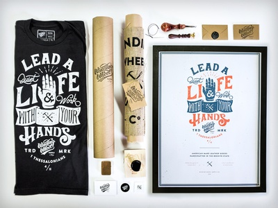 """Lead a quiet life"" poster // typography // packaging"