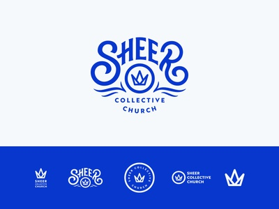 Sheer Collective Church Logo brand lettering crown logo church collective sheer