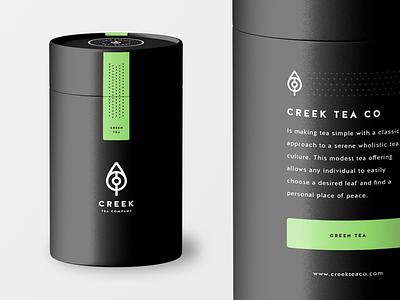 Creek Tea Co Packaging packaging herbal black green kettle brand mark tea creek