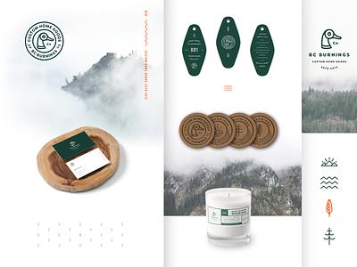 Bc Burnings Branding print packaging bc burnings branding candle design logo brand