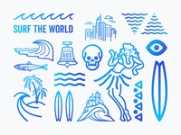 Surf the world elements