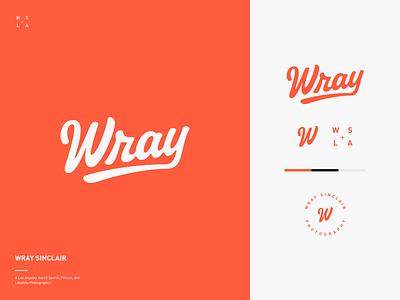 Wray Sinclair Branding monogram mark red w script logo branding