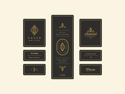 Cacao Review Brand Vibes r c chocolate coco monogram gold cacao logo brand branding