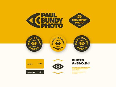 Paul Bundy Branding badge yellow eye mark branding illustration brand typography logo