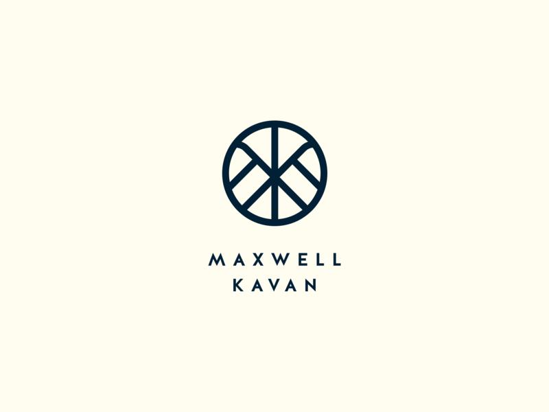 Maxwell Kavan Logo k m branding brand vector monogram mark typography logo
