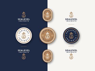 Sealevel - Brand Elements mark icon logo branding badge sea anchor navy s monogram