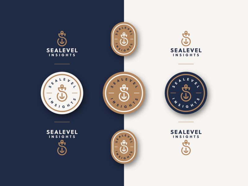 Sealevel - Brand Elements mark icon logo branding badge sea anchor navy s monogram