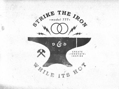 Strike anvil iron strike ampersand dsbd designbydiamond lightening create innovate inspire