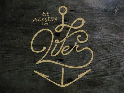 Lifer anchor vintage dribbble