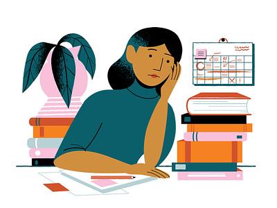 Why not permanent jobs? / FUURT teachers researchers jobs university finland character illustration digital illustration