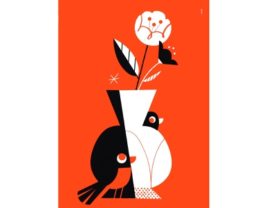 Silk Screen Prints / Nov 2020 printmaking fluorescent hide and seek wonder flowers fauna flora bird illustration screen print print