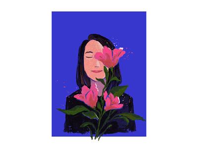 Une petite fleur flower portrait illustration