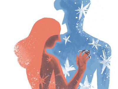 Être doux couple illustration