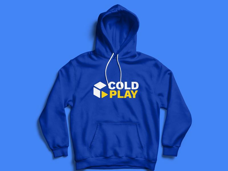 Coldplay Hoodie dribbbleweeklywarmup hoodie mockup graphicdesign typography design logo illustration