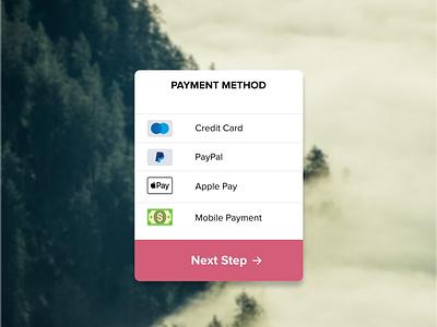 App Payment Module ios figma flat ux design ui