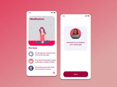 Myndful - Meditation App Concept ios figma minimal design app flat ux ui