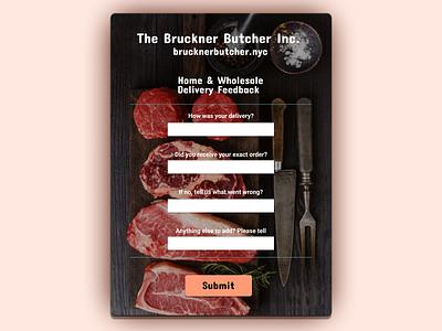 Butcher Shop Feedback Form design flat figma branding web ux ui
