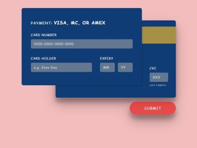 Check Out Card coding design web flat ux ui