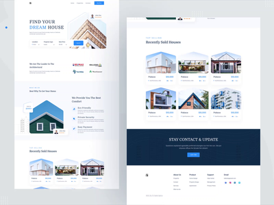 Real Estate Landing Page - ITO Team minimal creative uiux agency landing page real estate agent property management design property architecture app landing page hero image branding rental property product design real estate apartment property management website