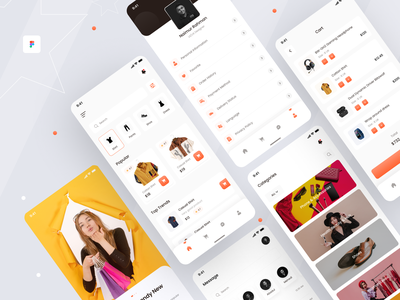 E-commerce - Mobile App (Part 1) creative interface 2020 trend minimal ui branding ux uiux fashion app fashion mobile app design app design mobile app mobile ui app mobile design e-commerce e-commerce app e-commerce shop e-commerce design