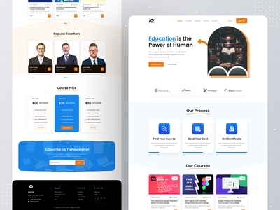 E-Learning Platform Landing Page minimal interface clean creative learning education online learning courses landing page landing web design design ui ux e-learning teaching education website web site